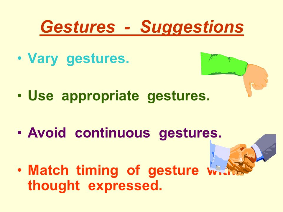 Gestures - Suggestions