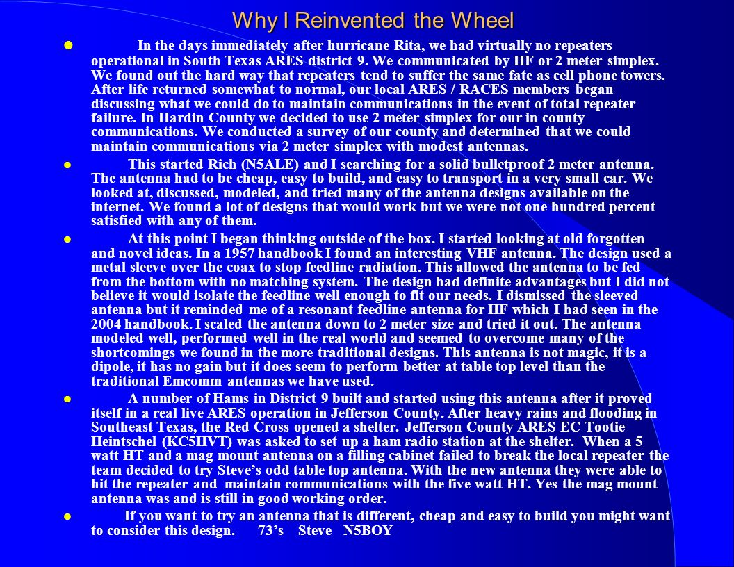 Why I Reinvented the Wheel