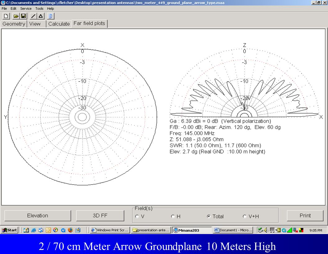 Frequency 2 / 70 cm Meter Arrow Groundplane 10 Meters High