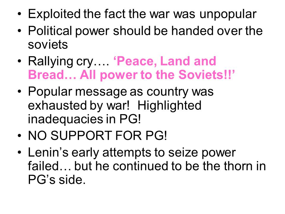 Exploited the fact the war was unpopular
