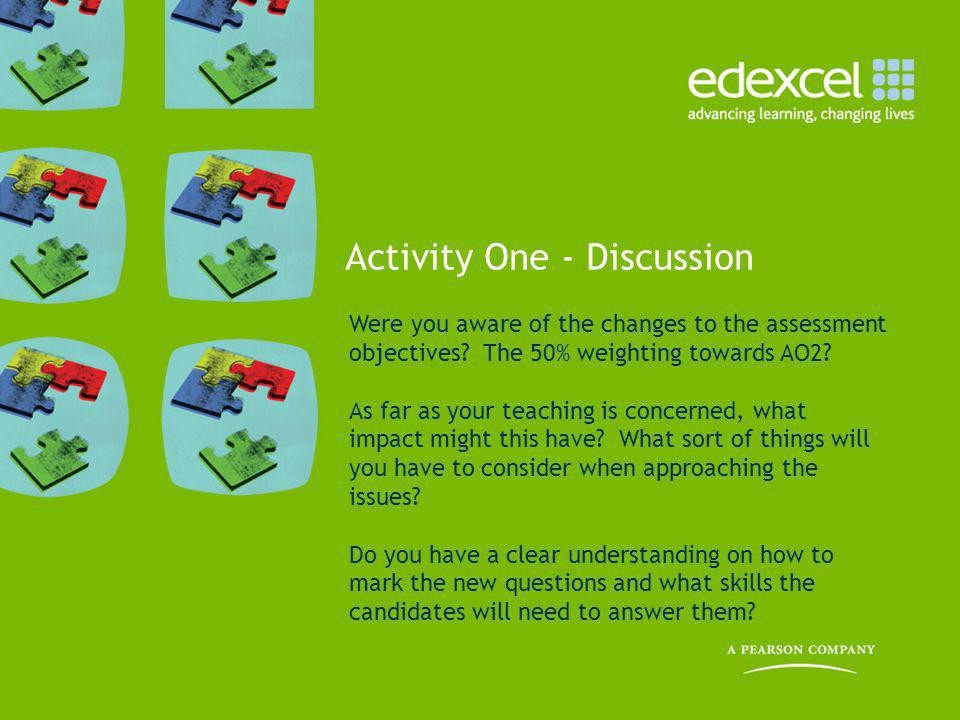 Activity One - Discussion
