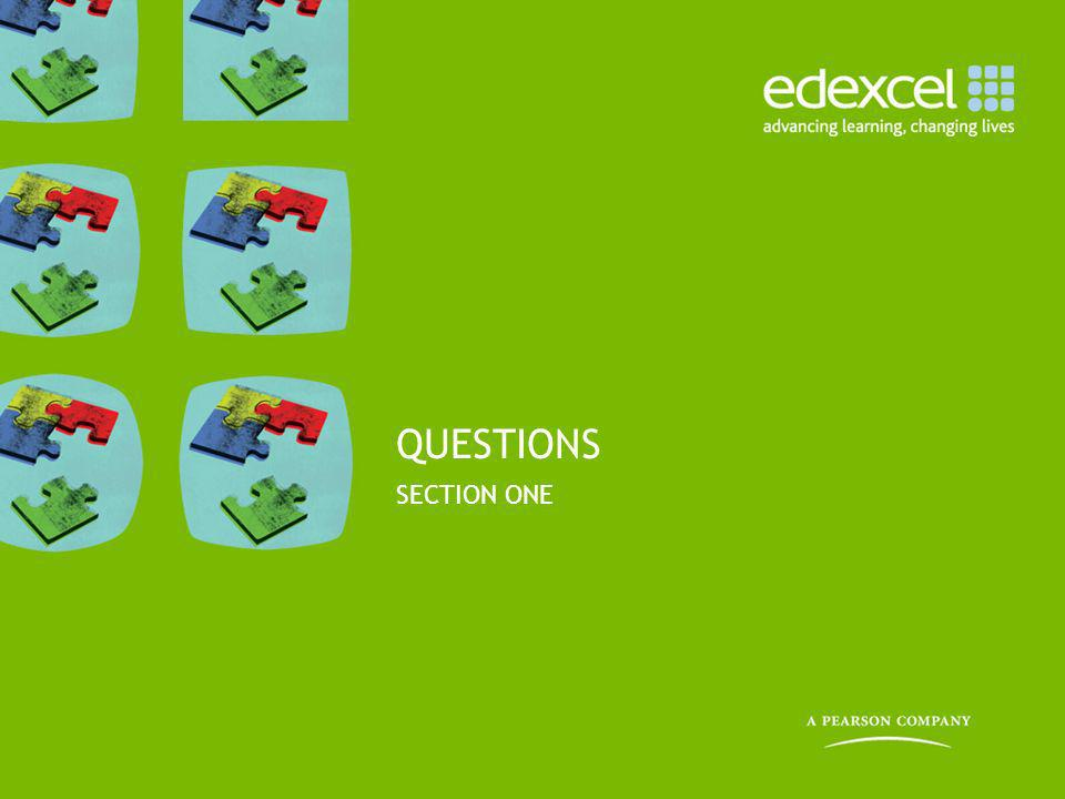 QUESTIONS SECTION ONE