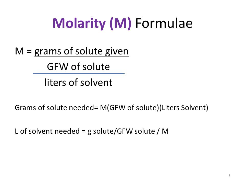 how to find molarity given ph