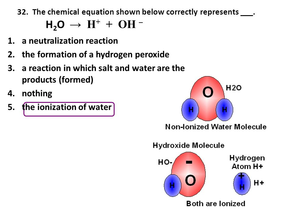 a neutralization reaction the formation of a hydrogen peroxide