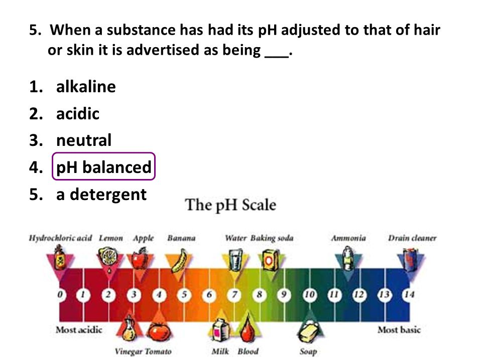 alkaline acidic neutral pH balanced a detergent