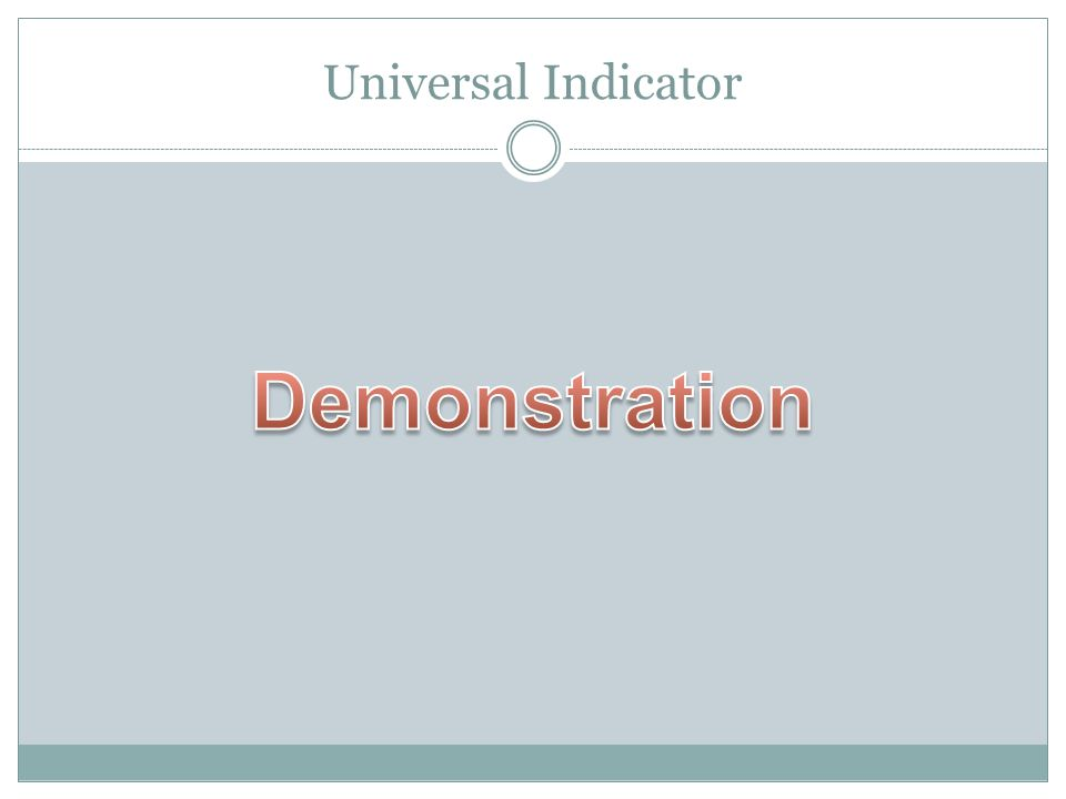 Universal Indicator Demonstration