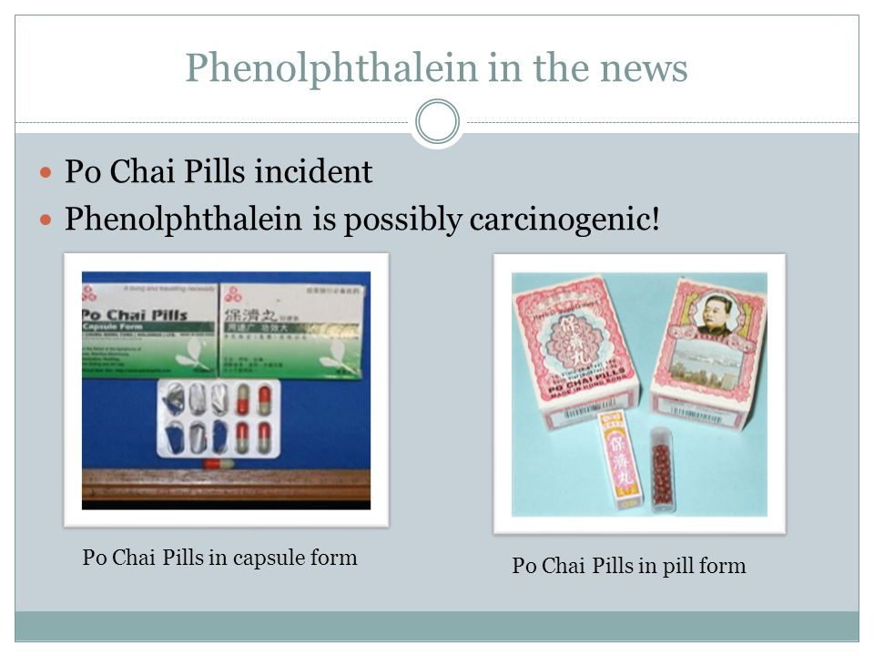 Phenolphthalein in the news