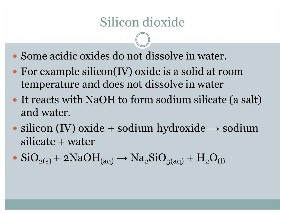 Why Is Silicon Dioxide Solid At Room Temperature