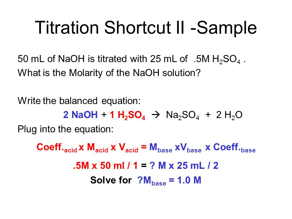 Titration Shortcut II -Sample