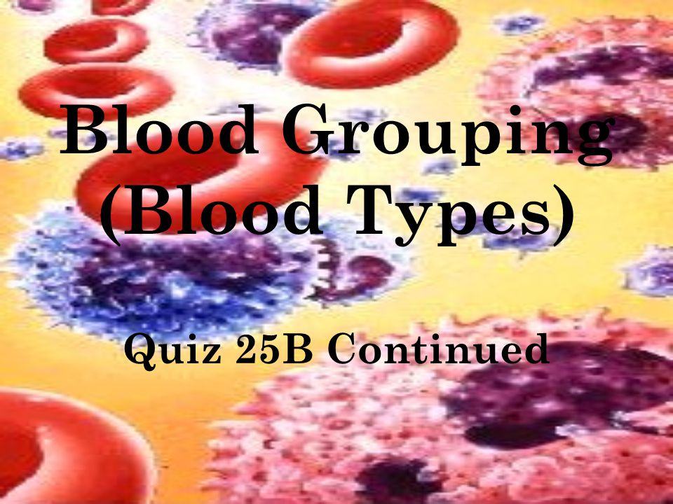 Blood Grouping (Blood Types)
