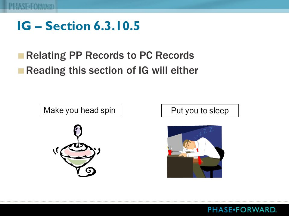 IG – Section Relating PP Records to PC Records