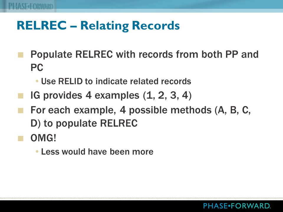 RELREC – Relating Records