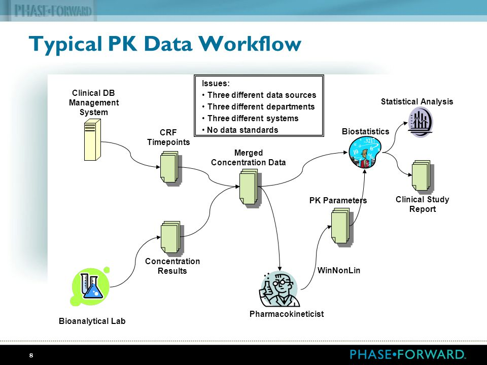 Typical PK Data Workflow