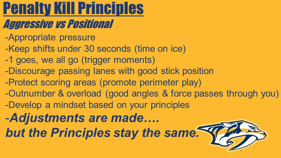 Penalty Kill Principles