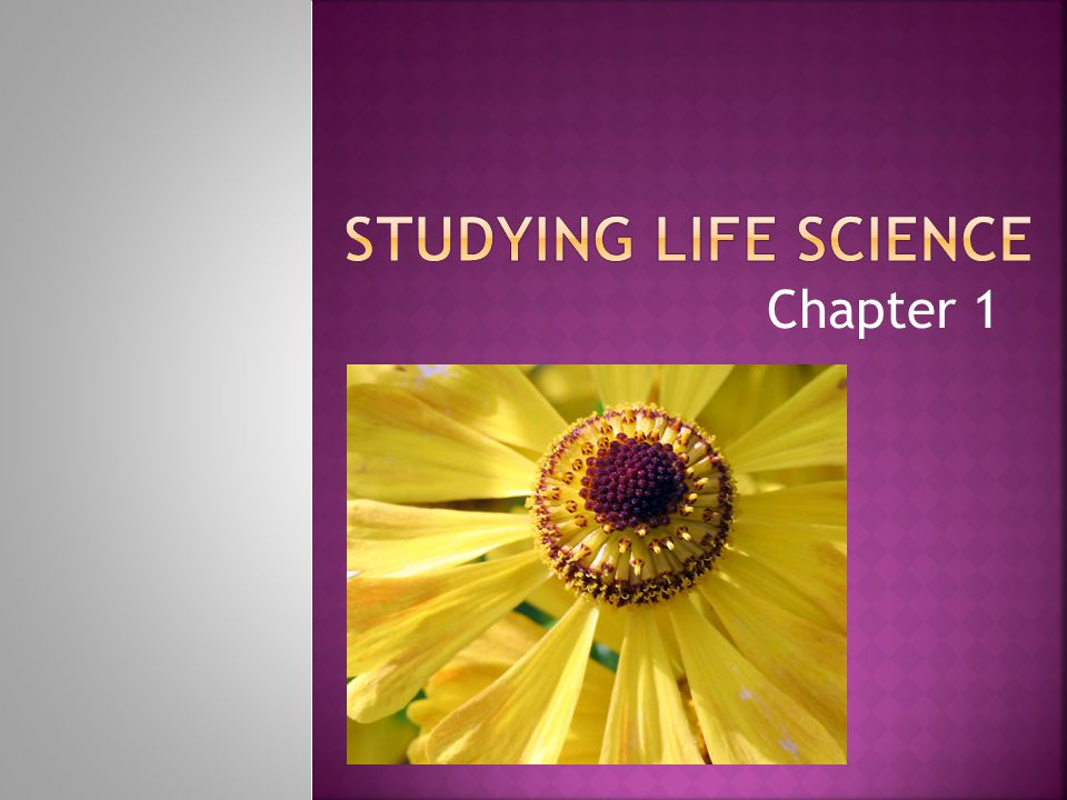 Studying Life Science Chapter 1