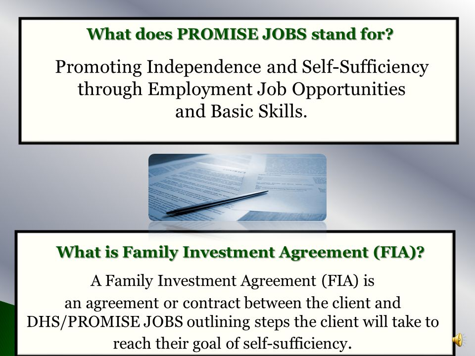 What does PROMISE JOBS stand for