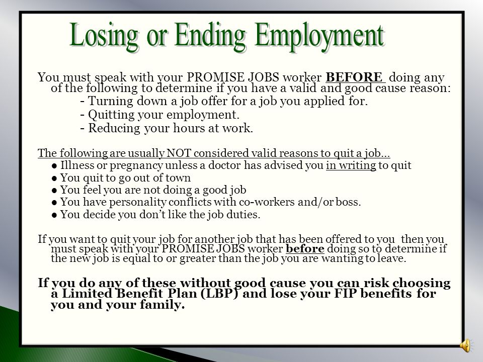 Losing or Ending Employment