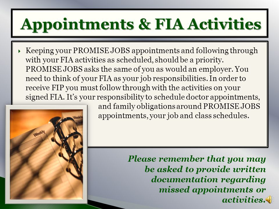 Appointments & FIA Activities