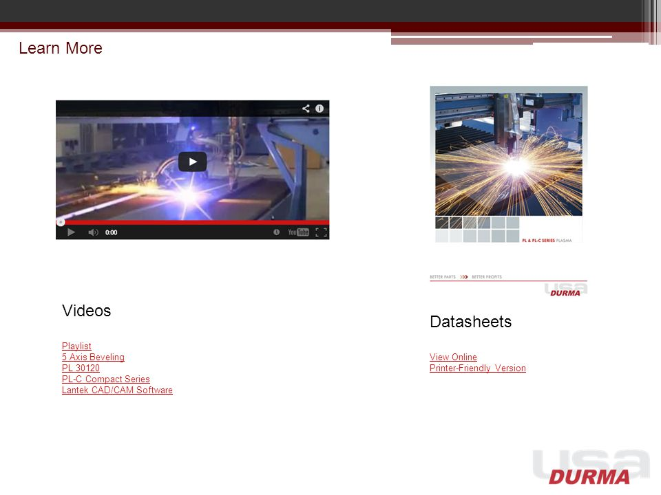 Learn More Videos Datasheets Playlist 5 Axis Beveling PL 30120