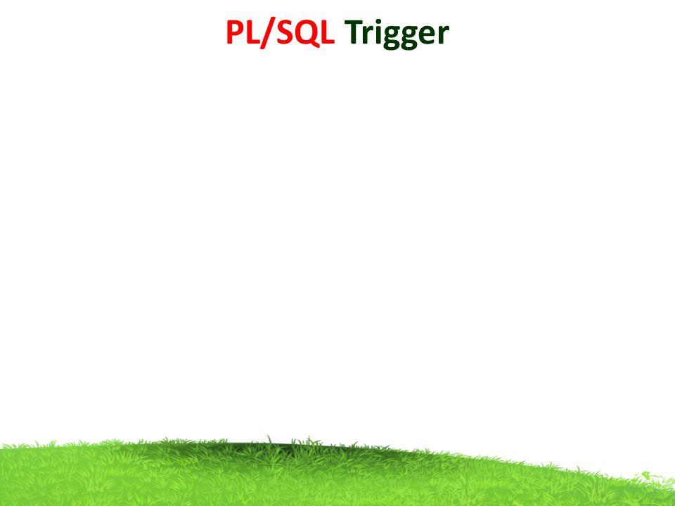 PL/SQL Trigger