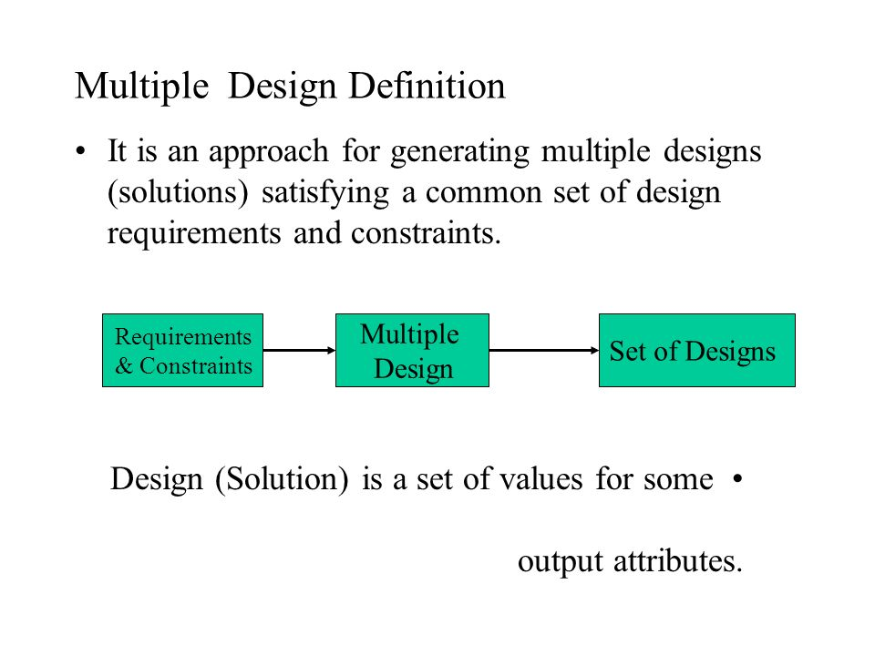 Multiple Design Definition