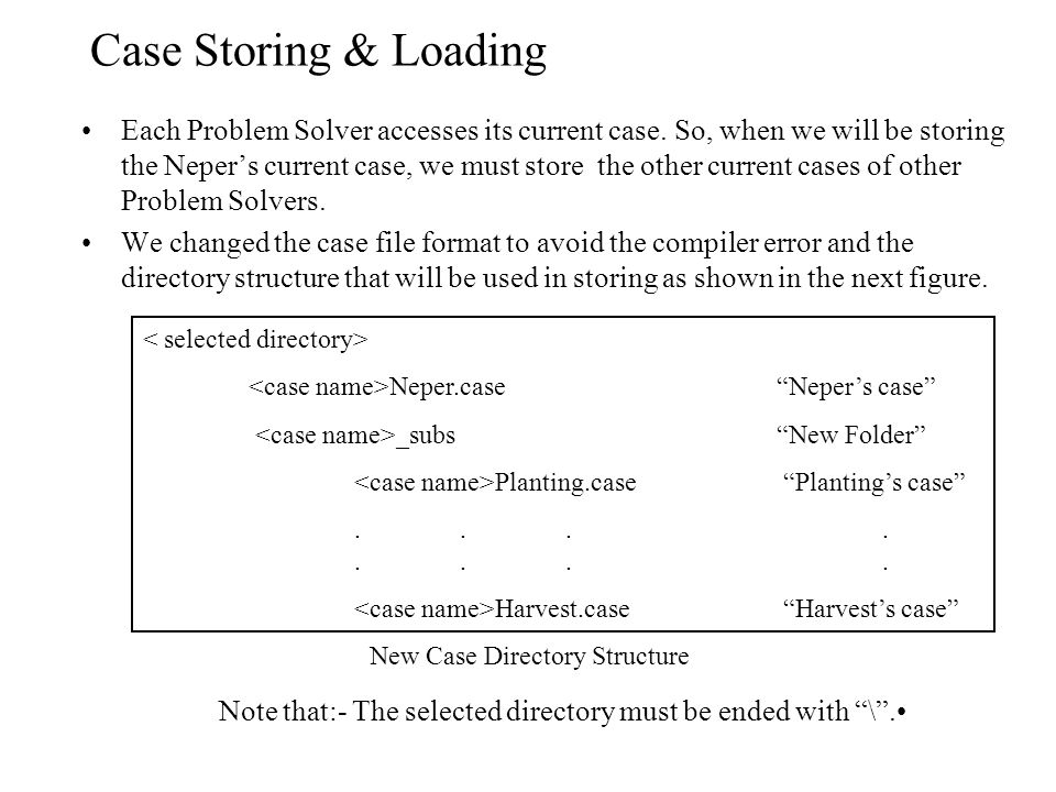 New Case Directory Structure