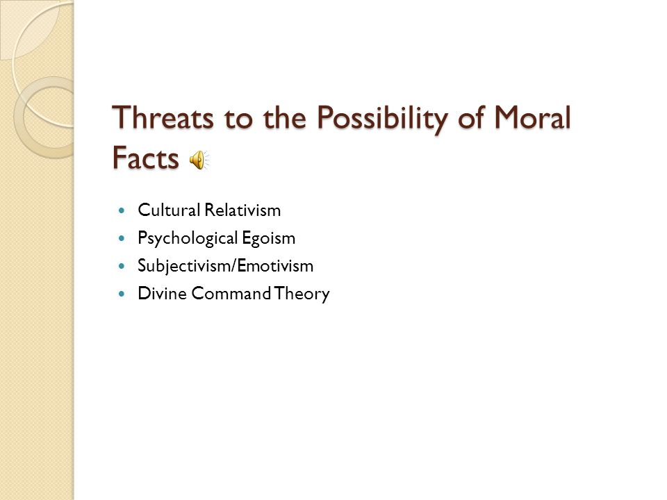 Threats to the Possibility of Moral Facts