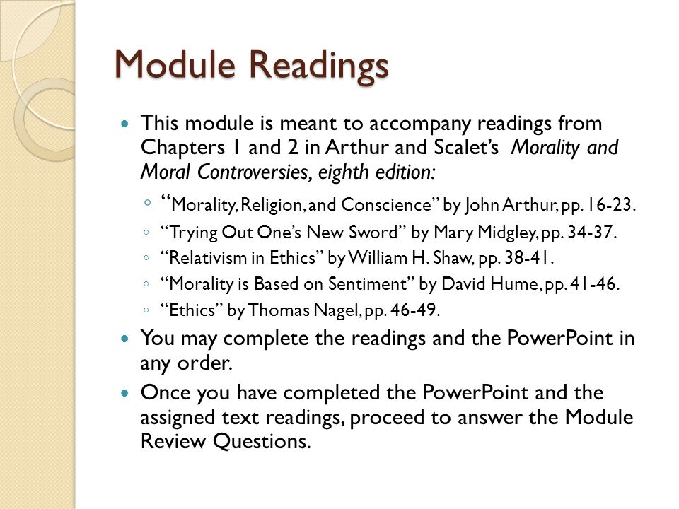 Module Readings