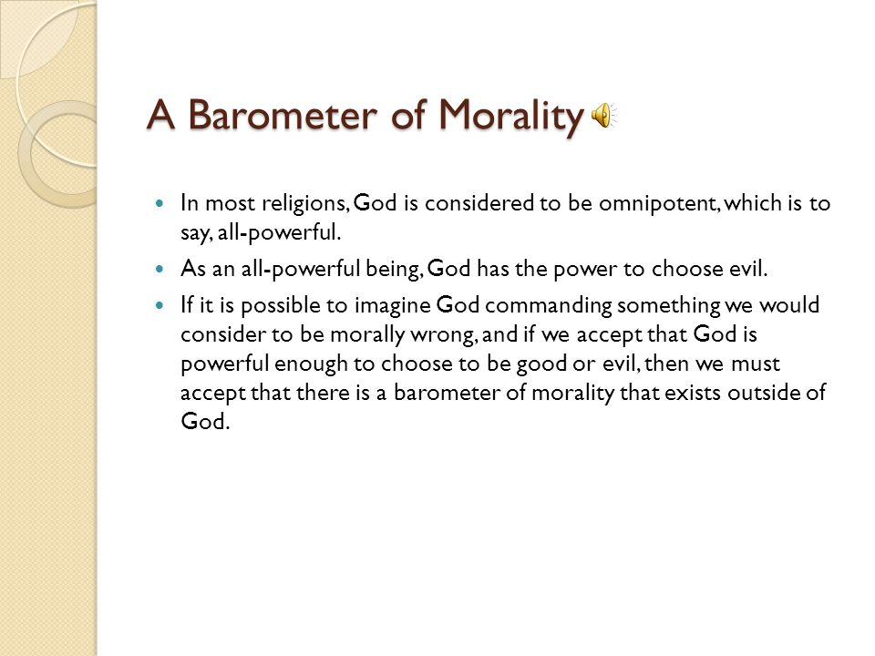 A Barometer of Morality