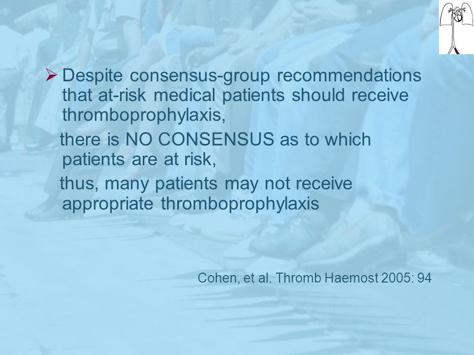Despite consensus-group recommendations that at-risk medical patients should receive thromboprophylaxis,