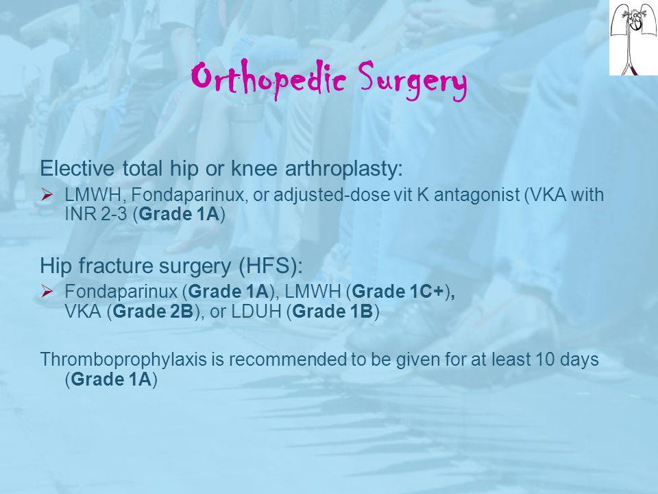 Orthopedic Surgery Elective total hip or knee arthroplasty: