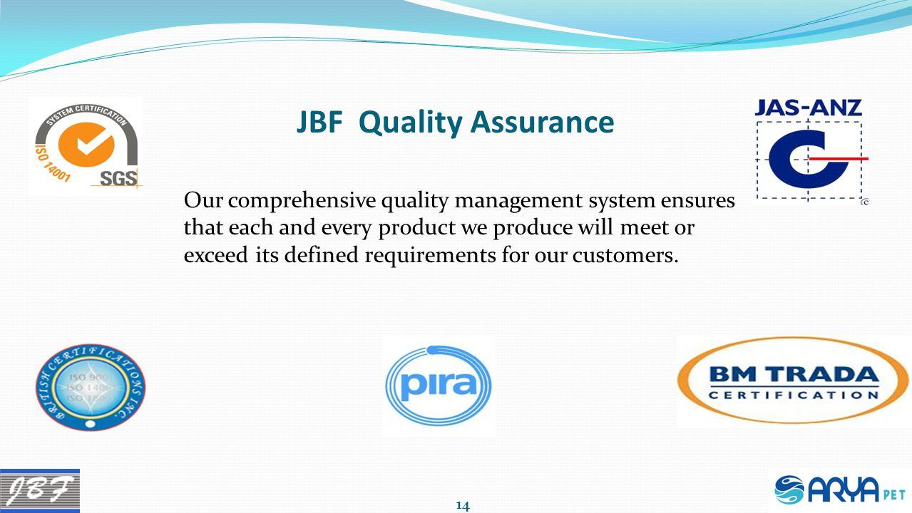 JBF Quality Assurance