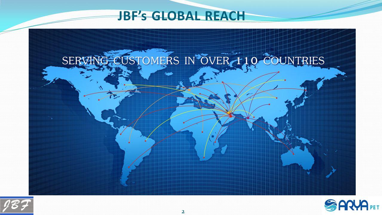 JBF's GLOBAL REACH