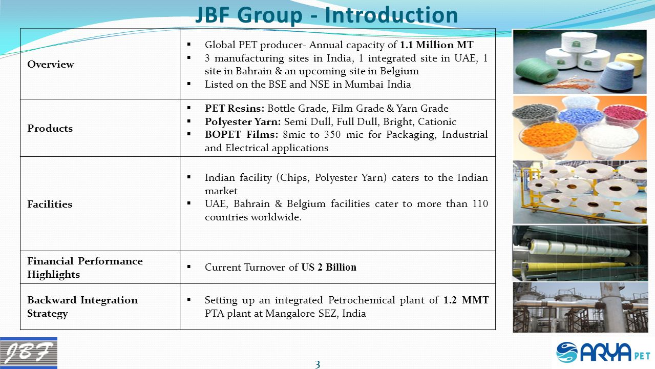 JBF Group - Introduction