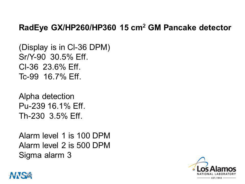 RadEye GX/HP260/HP360 15 cm2 GM Pancake detector