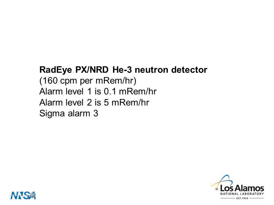 RadEye PX/NRD He-3 neutron detector