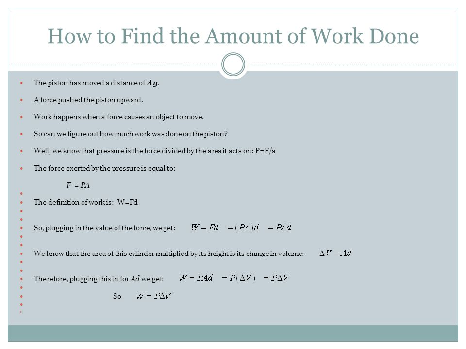How to Find the Amount of Work Done