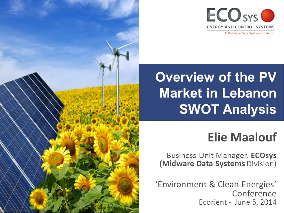 Overview of the PV Market in Lebanon SWOT Analysis