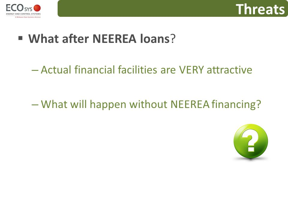 Threats What after NEEREA loans