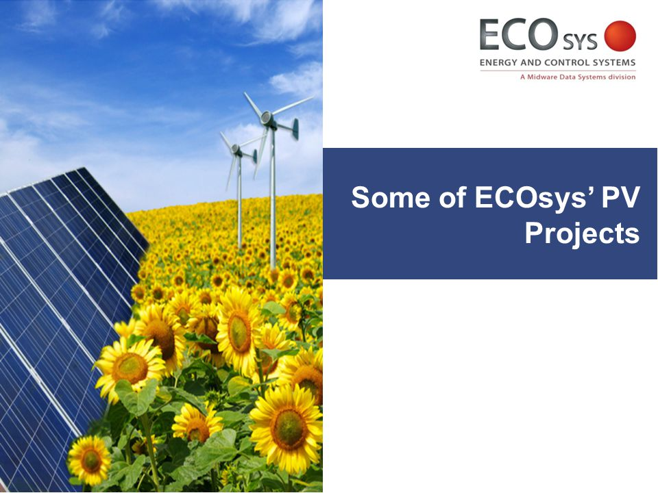 Some of ECOsys' PV Projects