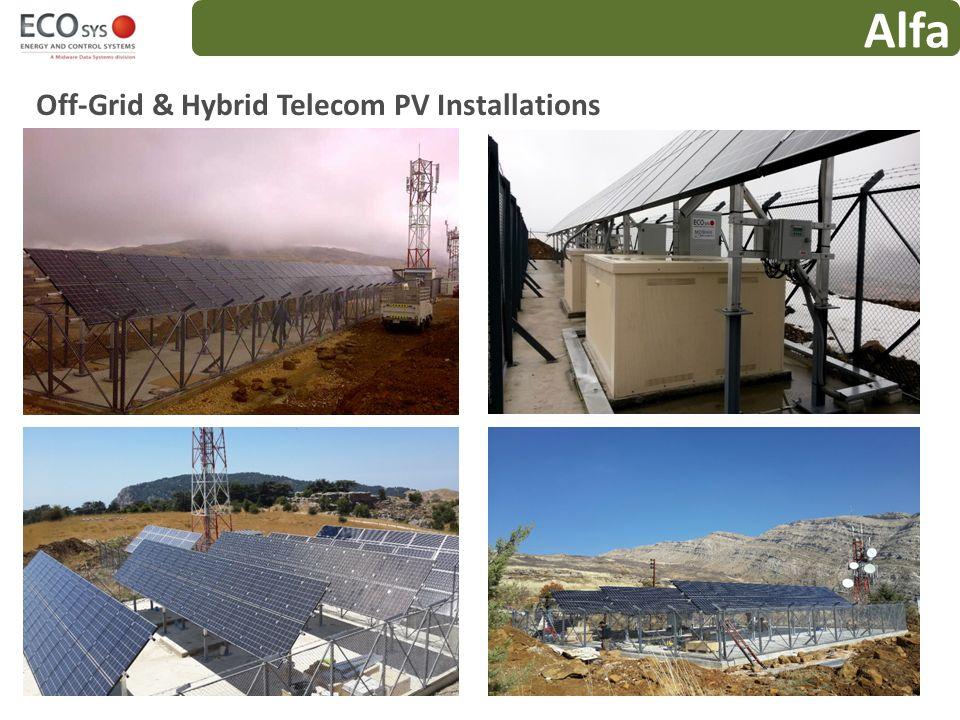 Alfa Off-Grid & Hybrid Telecom PV Installations