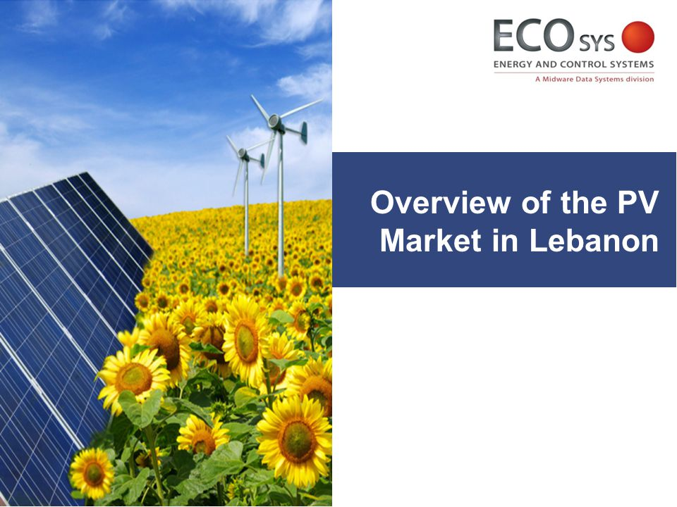 Overview of the PV Market in Lebanon