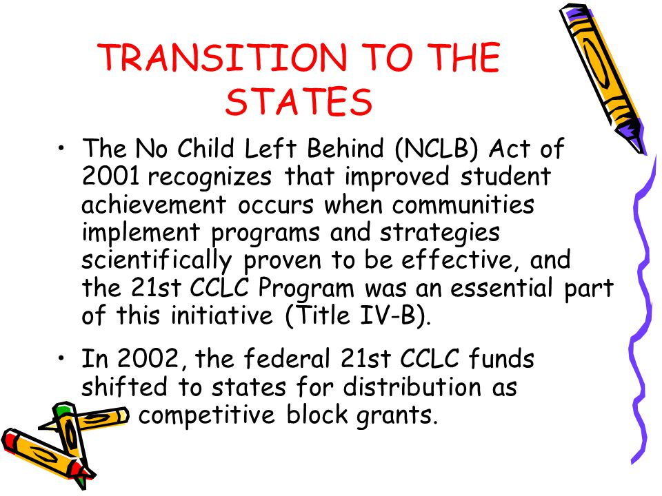 TRANSITION TO THE STATES