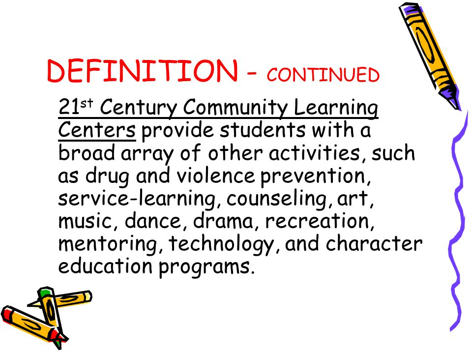 DEFINITION - CONTINUED