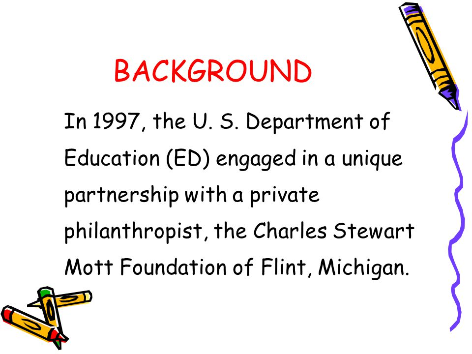 BACKGROUND In 1997, the U. S. Department of