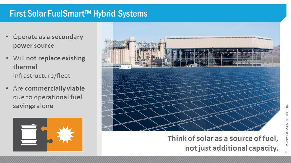 First Solar FuelSmart™ Hybrid Systems