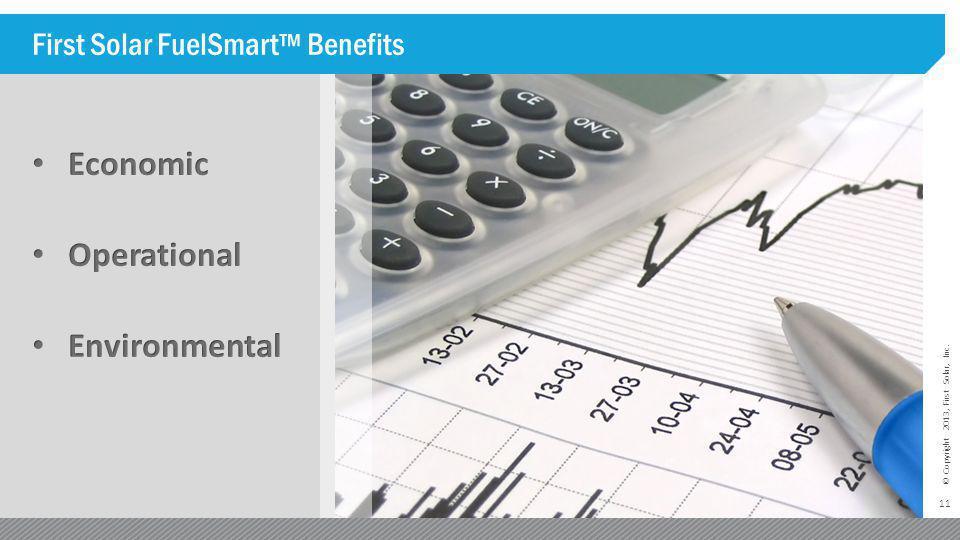 First Solar FuelSmart™ Benefits