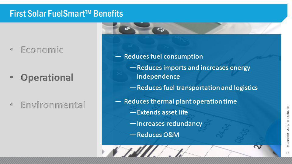 First Solar FuelSmart™ Benefits