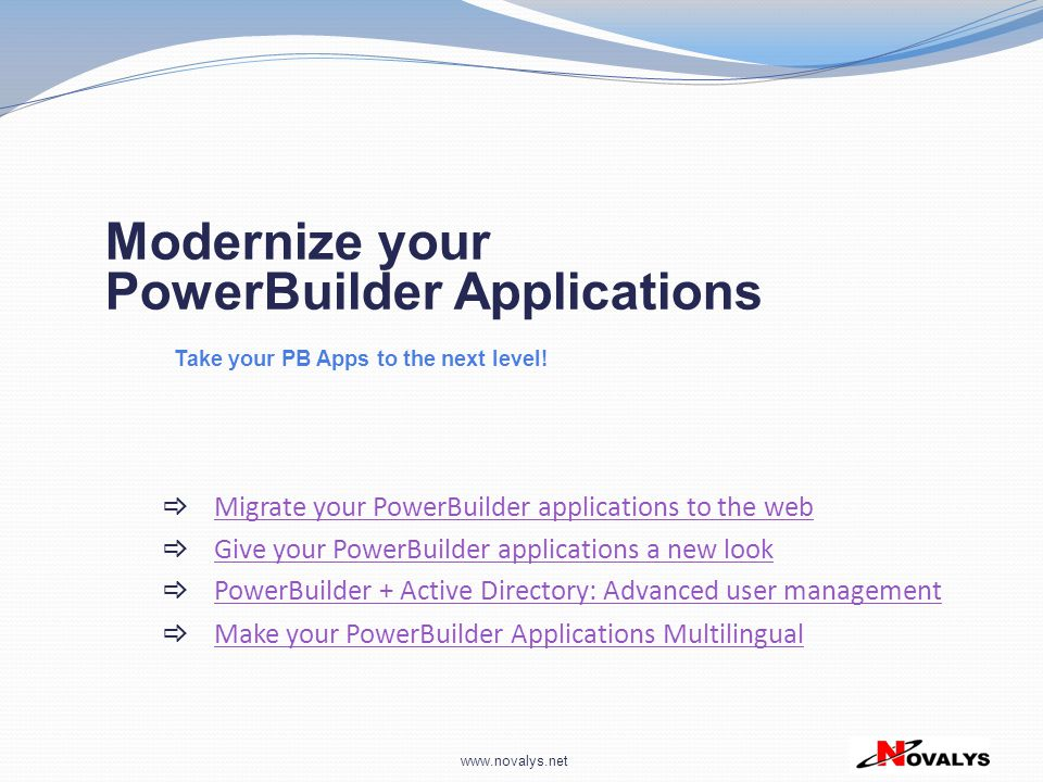 Migrate your PowerBuilder applications to the web