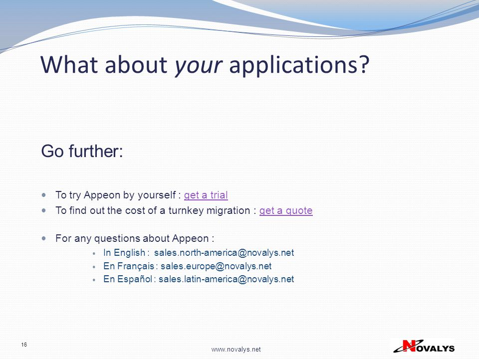 What about your applications